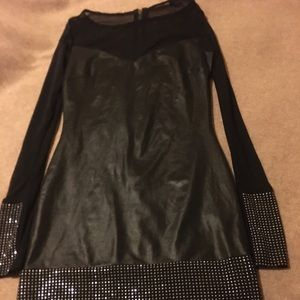 Bebe dress with sequins long sleeves
